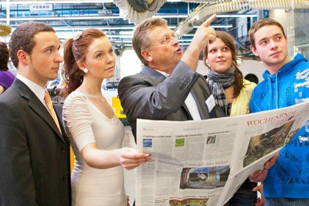 """<p class=""""artikelinhalt"""">Ein Besuch im Druckzentrum der """"Freien Presse"""" ist Bestandteil des Projekts.</p>"""