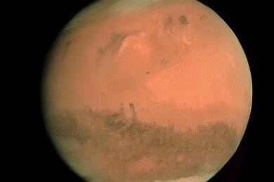 Die Aufnahme der Europäischen Weltraumagentur Esa aus dem Jahr 2007 zeigt den Planeten Mars.
