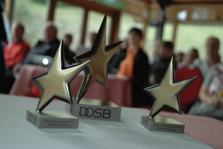 """Die """"Sterne des Sports"""" in Bronze sind am Dienstagabend in Kriebstein verliehen worden."""