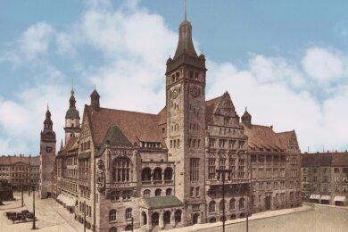 Das Neue Rathaus, Arlarts Wirkungsstätte, einige Jahre vor seiner Ankunft aus Neukölln.