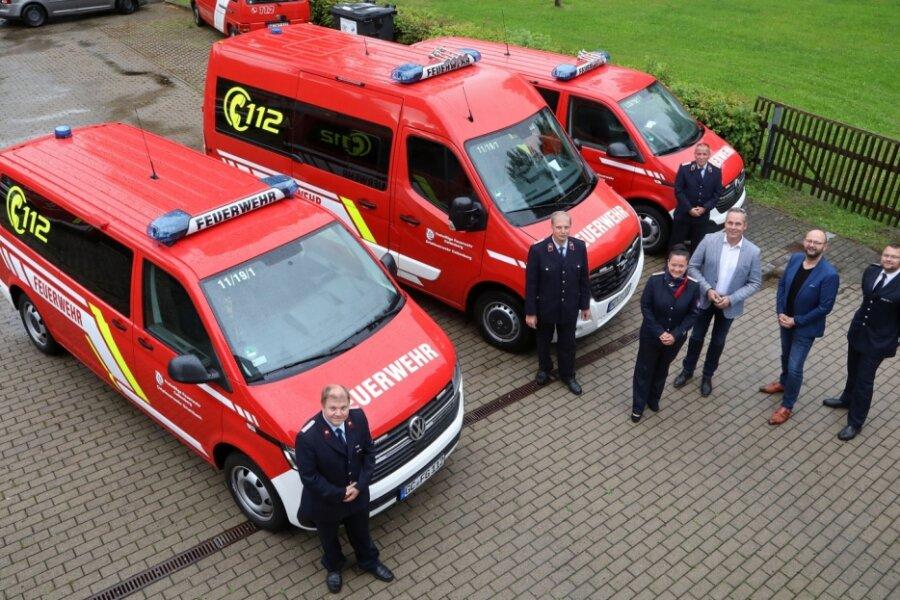 Neue Autos für Callenberger Feuerwehren