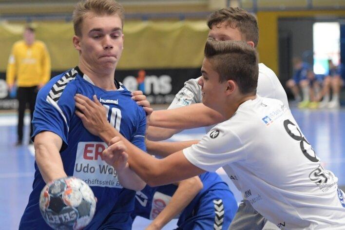Maurice Thiele und seine Teamkameraden von der SG Nickelhütte Aue wollen zuhause gegen Cottbus bestehen.