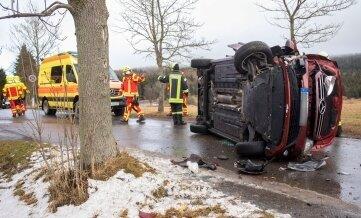 Die Feuerwehren aus Oberwiesenthal und Bärenstein waren im Einsatz.