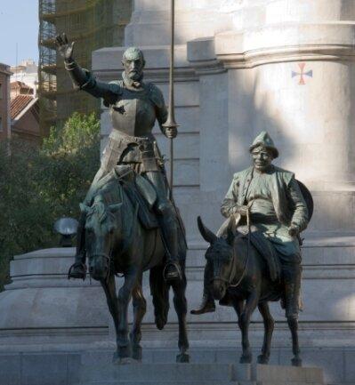"""Niemand käme auf die Idee, die Romanfigur Don Quijote (links, hier mit Sancho Pansa) mit """"Kw"""" am Anfang auszusprechen."""