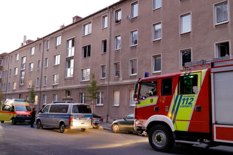 Mieterin stirbt in verqualmter Wohnung in Chemnitz