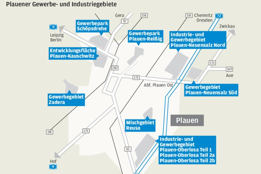 So viele Industrieflächen gibt es in Plauen wirklich