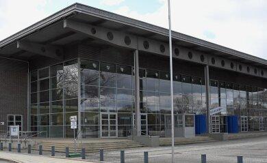 Das Impfzentrum in der Richard-Hartmann-Halle in Chemnitz soll im September schließen.