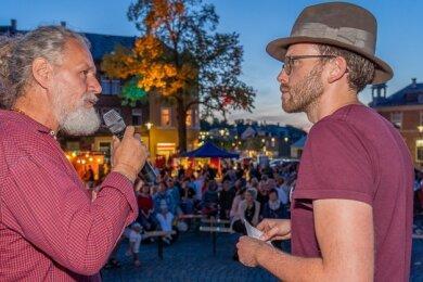 Mario Goldstein (links) im Gespräch mit Matthias Ditscherlein.