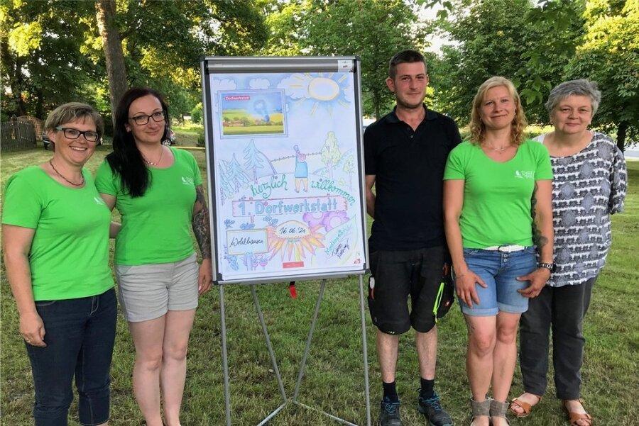 Die Dorfwerkstatt Wohlhausen war keine Eintagsfliege: Im September folgt Runde 2. Eingerührt hat das der Ortschaftsrat mit (von links) Romy Böttcher, Ute Rill, Daniel Samsel, Ulrike Hoyer und Bärbel Steiniger.