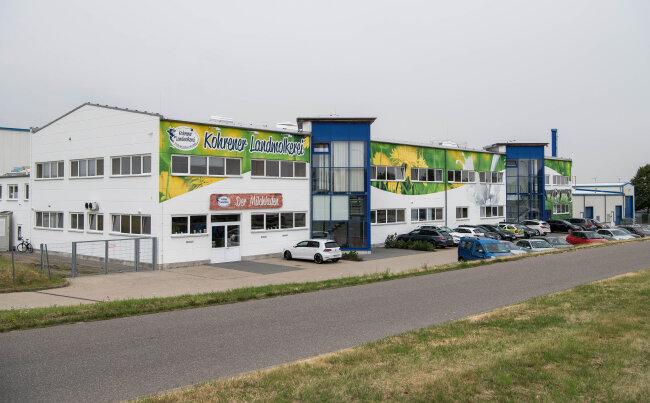 Die Kohrener Landmolkerei im Peniger Gewerbegebiet.