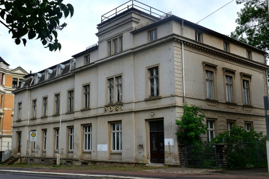 Die ehemalige Post an der Humboldtstraße in Frankenberg: Die Immobilie wird zum Sitz der Jugend-Kunst-Schule ausgebaut und damit Teil der neuen Kultur gGmbH der Stadt.