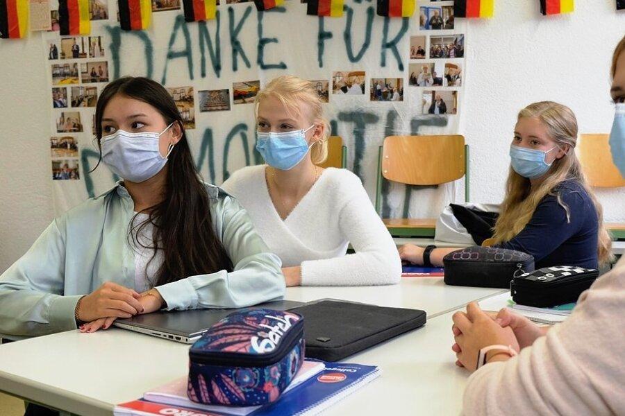 Elftklässler des Goethe-Gymnasiums beim Projekt-Unterricht Juniorwahl 2021.