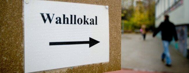 Allein in Zwickau gibt es 55 Wahllokale und zusätzlich 18 Briefwahllokale.