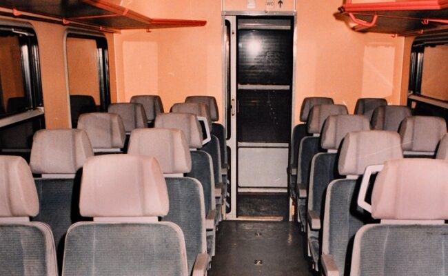 Täter und Opfer saßen in diesem Abteil.