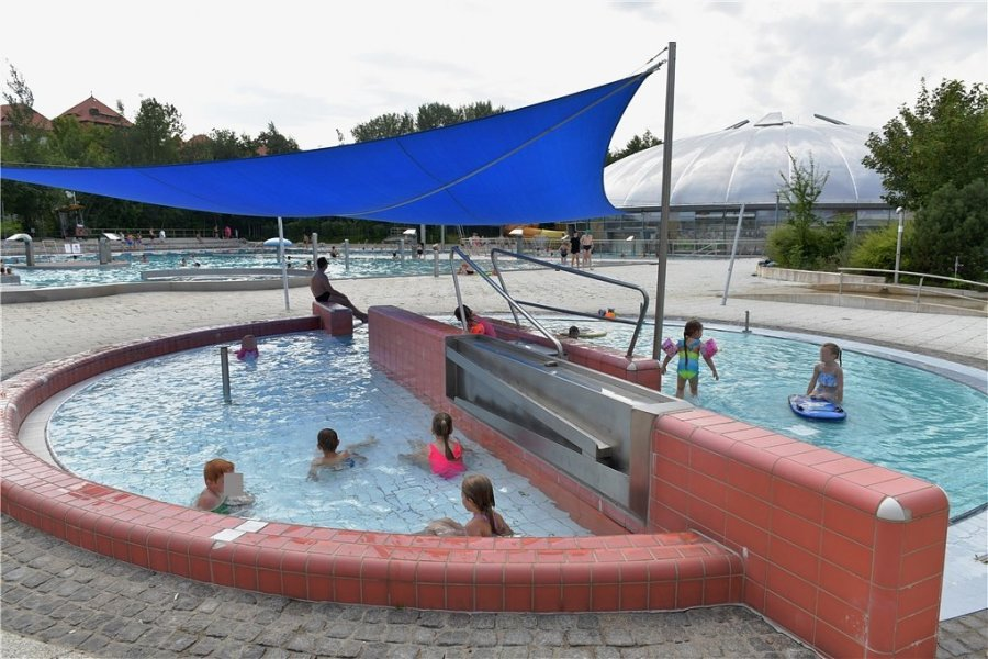 Am Freitag war im Johannisbad in Freiberg reger Betrieb.