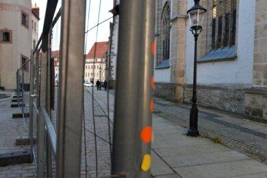 Eng wird es derzeit auf Grund von Baumaßnahmen zwischen Dom und Stadt- und Bergbaumuseum in Freiberg.