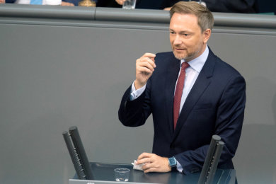 Christian Lindner, Spitzenkandidat, Fraktionsvorsitzender und Parteivorsitzender der FDP.