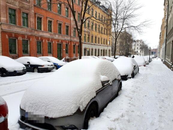 Verschneiter Sonnenberg in Chemnitz.