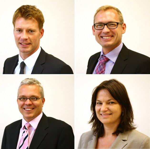 Experten im Telefonforum und Chat: Thomas Hoffmann, Frank König, Ulf Giesler und Gabriele Wetzel (v.l.n.r.)