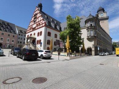 Das Rathaus in der Innenstadt von Plauen.