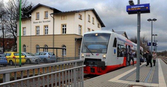 Ein Schmuckstück: der alte Bahnhof in Frankenberg, jetzt Haus der Vereine.