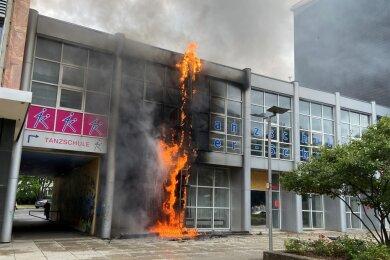 Flammen sorgten am Mittwoch im Chemnitzer Stadtzentrum für Aufsehen.