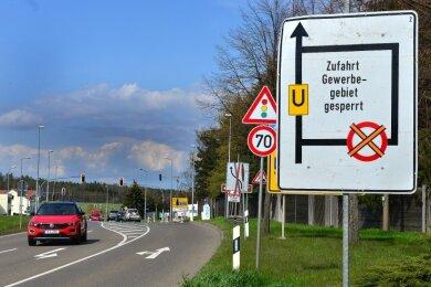 Der Kreuzungsbereich der B 169 mit der S 201 in Hainichen wird ab Montag gut vier Wochen lang gebaut.