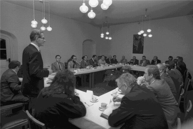 """Auch an den Runden Tischen - hier in Zwickau - saß die """"Freie Presse"""", wurde oft auch kritisiert."""