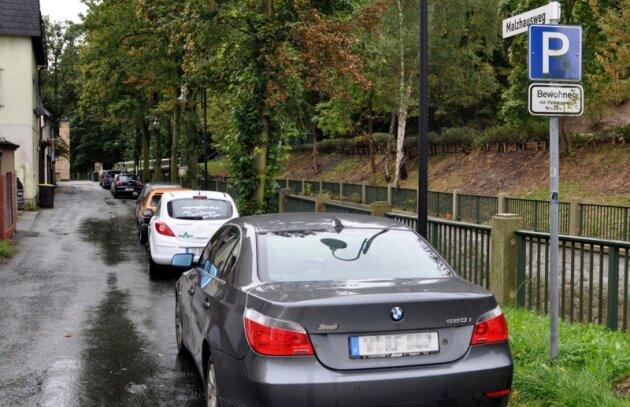 Am Malzhausweg haben Kraftfahrer mit einer Dauerparkkarte bisher einen Platz gefunden. Ab dem nächsten Jahr soll es die Dauerparkplätze für gewerbliche Nutzer in Auerbachs Innenstadt nicht mehr geben.