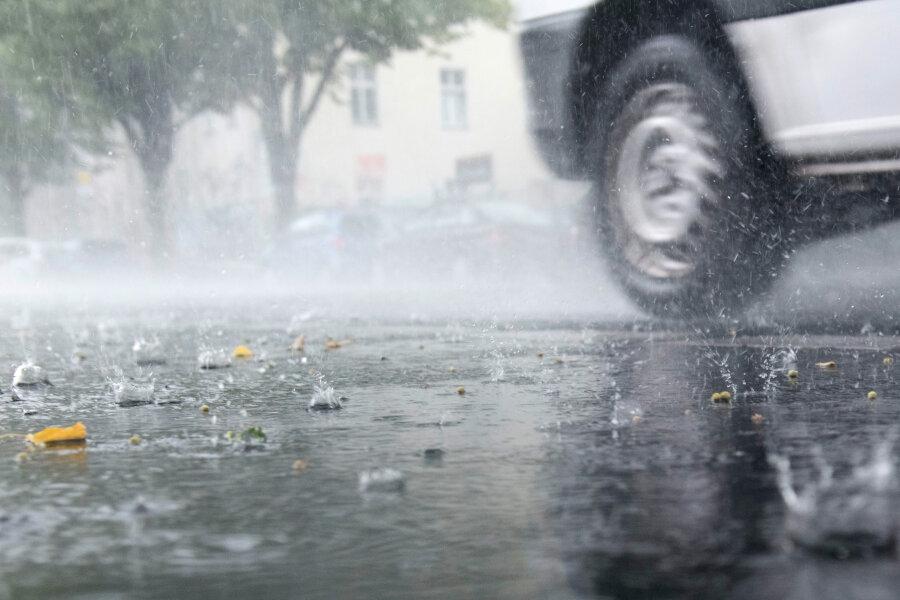 Unwetter über Teilen Südwestsachsens