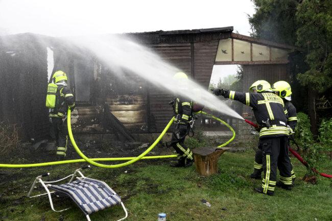 Am Abend brannte ein Bungalow in Kleinolbersdorf-Altenhain.