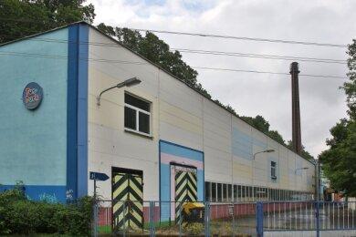 Blick auf das Gelände des ehemaligen Fahrzeuggetriebewerks in Glauchau, in dem der Funpark untergebracht war.