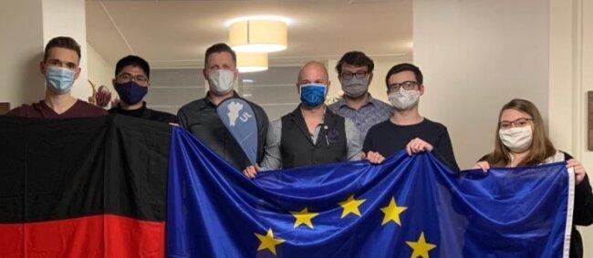 Der neue Kreisvorstand der Jungen Union (von links nach rechts): Henning Nestler, Tuan Anh Nguyen, Martin Seufzer, Sven Michael Willems, Max Trillitzsch, Einar Eibach und Anne Firmenich.