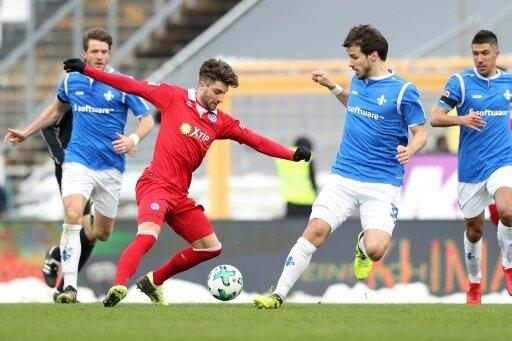 Der SV Darmstadt im Spiel gegen MSV Duisburg