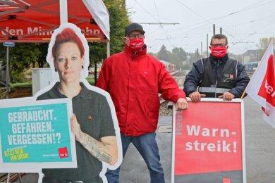Bein den Städtischen Verkehrsbetrieben Zwickau wurde am Donnerstag gestreikt.