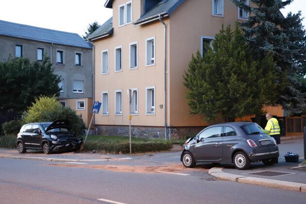 Am frühen Donnerstagmorgen kam es in Grüna zu einem Unfall zwischen zwei Pkw.