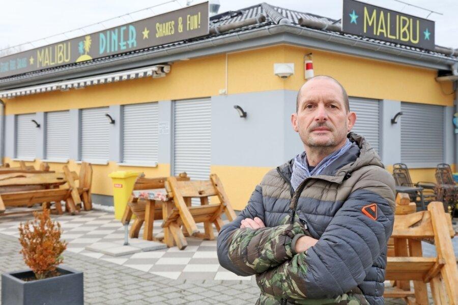 Das Malibu Diner in Werdau bleibt geschlossen, doch über die Feiertage will Großküchenchef Olaf Roith einen Lieferservice anbieten.