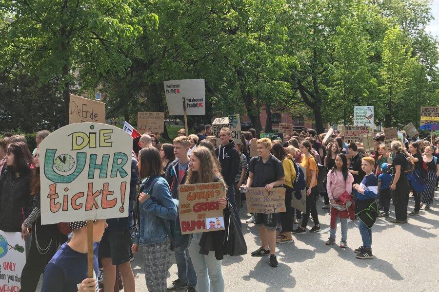 Klima-Demo in Annaberg-Buchholz