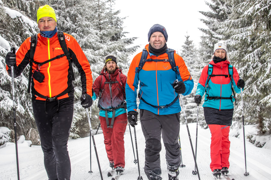 100 Kilometer auf Skiern durch das Erzgebirge