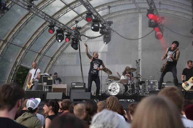 Die Band Donots machte während ihrer Tour in Chemnitz Halt.