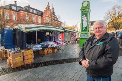 Marktmeister Andreas Großer beendet Ende Dezember seine Arbeit in Oelsnitz.