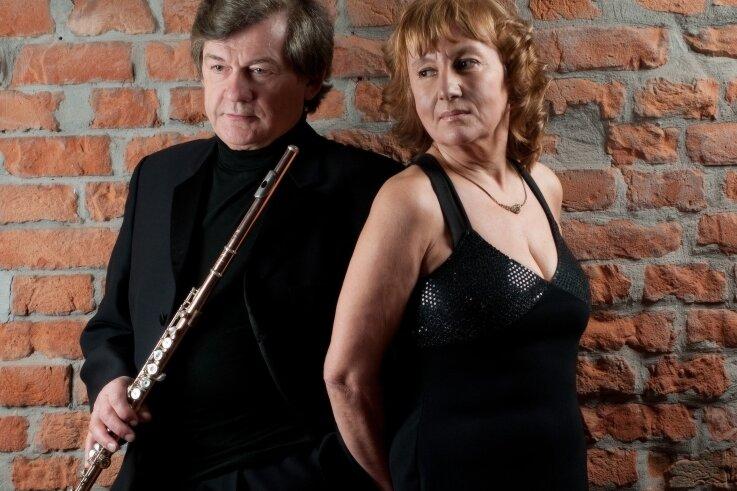 Das Duo Henryk Błazej (Flöte) und Teresa Kaban (Klavier) bringt am Sonntag in der Burg Mylau Klassisches zu Gehör.
