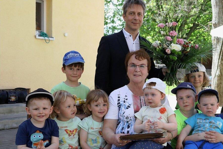 """Bürgermeister Thomas Nordheim war bei der Verabschiedung von Andrea Urlaß dabei: """"Wir haben gut zusammengearbeitet."""""""