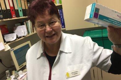 Claudia Sachse war 47 Jahre lang in Frankenberg tätig. Zum Jahresende geht die Pharmazie-Ingenieurin in den Ruhestand.