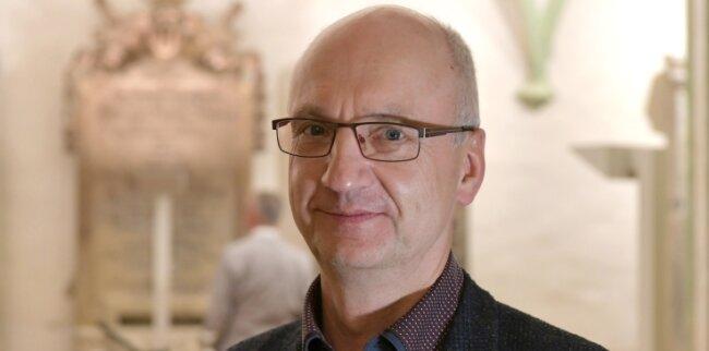 Urs Ebenauer (59) ist Pfarrer in der Evangelischen Kirchgemeinde am Dom Freiberg, die auch Kleinwaltersdorf und Großschirma umfasst.