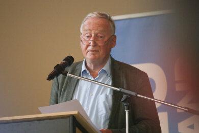 Der AfD-Bundestagsabgeordnete und Vorsitzende der Bundestagsfraktion, Alexander Gauland, sprach bei einer Veranstaltung im Hilbersdorfer Ballsaal.