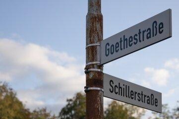 Die neue Straße im künftigen Wohngebiet ist eine Verlängerung der Goethestraße.