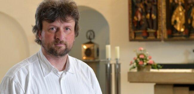 Dominikus Goth (49) ist Pfarrer in der katholischen Pfarrgemeinde St. Johannis mit den Gemeinden Freiberg, Hainichen und Flöha.