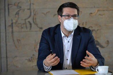 Der Döbelner Sven Liebhauser ist seit 16 Jahren CDU-Mitglied. Der dreifache Vater ist 39 Jahre alt.
