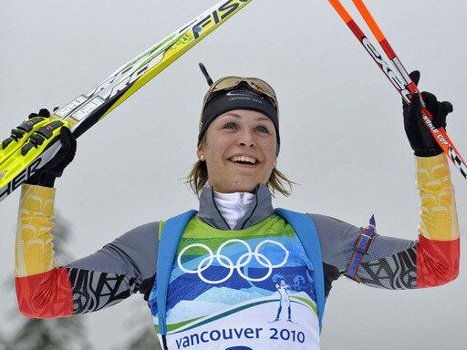 Zweite Medaille in Vancouver: Verfolgungssiegerin Magdalena Neuner